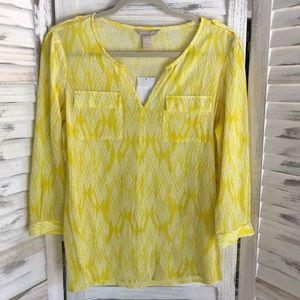 Yellow Ikat Tunic Blouse